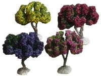 lot d'arbres fleuris