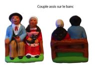 Couple de vieux sur le banc